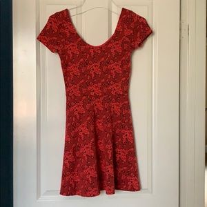 Topshop Red Skater Dress Sz 4